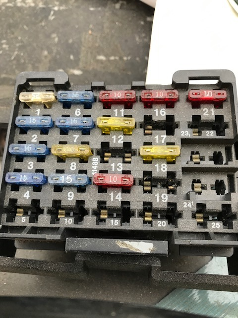 all fuses test ok but there are many empty spots in the fuse panel  could  one of those be the backup lights fuse  anyone have a diagram or listing of  fuse