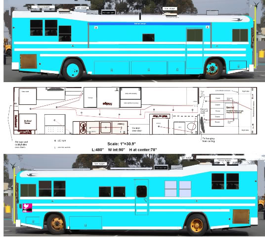 Home design ideas from bus to housecar conversion for Home design resources