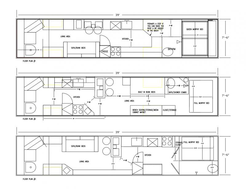 Floor Plans B4 Roof Raise On Monday! Let Me Know Thoughts!   School Bus  Conversion Resources