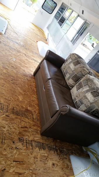Subfloor with couch view
