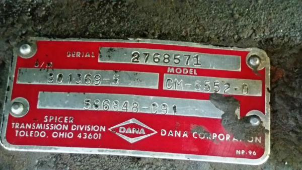 Dana Model CM-5552-D
