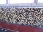 Check out this shagadelic leopard-spot velour wallcovering. We aaare a classy bunch!