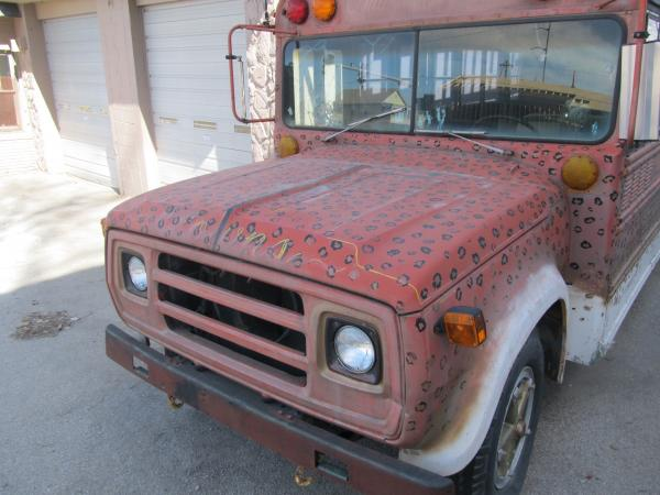 Not the prettiest nose but I'm planning to dress it up with a Winnebago grille insert from the '70s! Not to mention a black-and-white paint scheme.