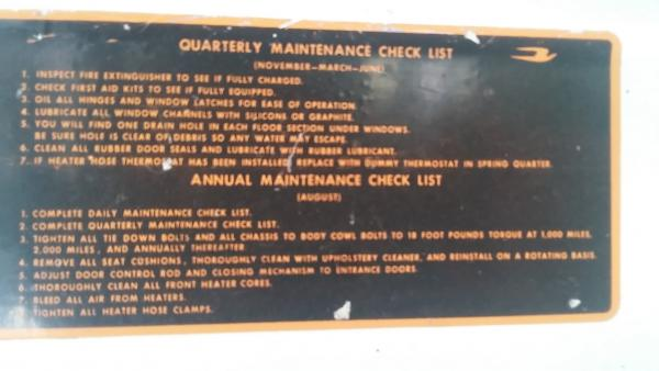 Inside regular maintenance plate