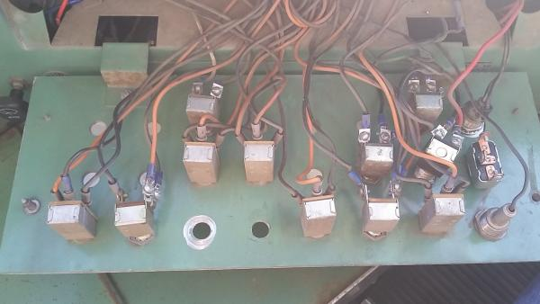 Back of control panel face plate