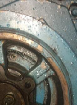 Bolts missing = oily engine