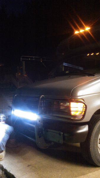 Better angle on the LED light bar.. Had neighbors house and yard lit up like day.. Sorry neighbor.