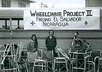 Wheelchair Project with collected supplies