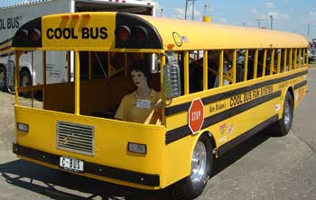 racing school bus