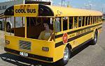 racing school bus