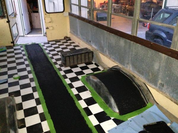 Flooring dries