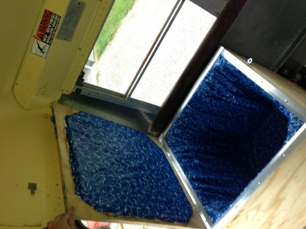 Finished cooler with lid.