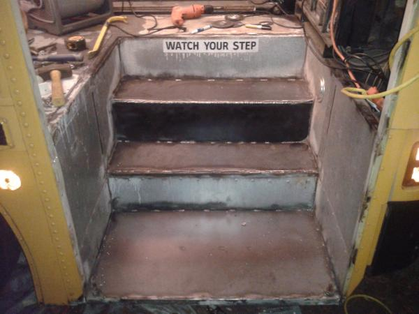 Steps repaired