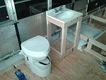 Natures Head composting toilet and sink