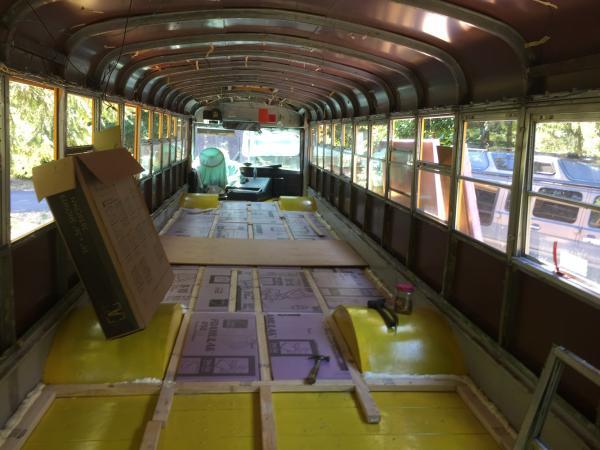 """floor framing for 2"""" insulation"""
