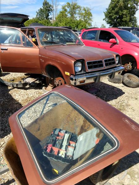 That sir is a 1974 Chevrolet Chevette.  And I now have a hatch for my transition.