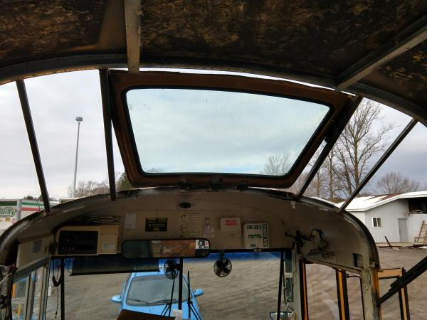 Transition skylight is in.  Also got the braces installed