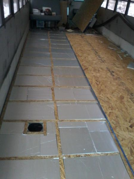 Sub floor going down!