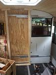 Completed sliding door in the open position.