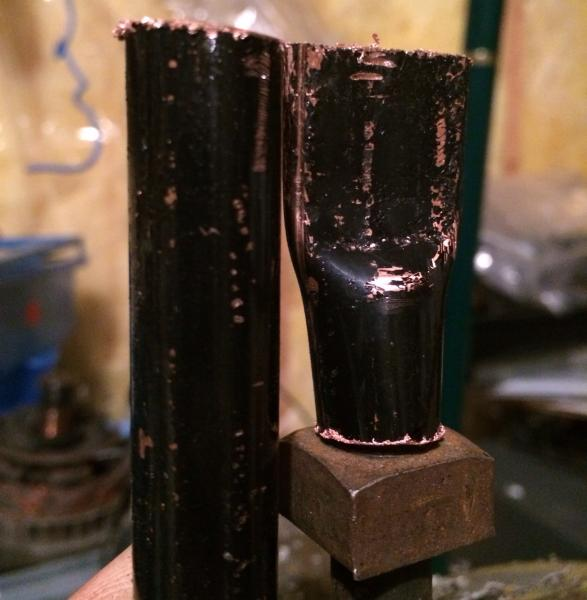 1/2 inch copper pipe smooshed!