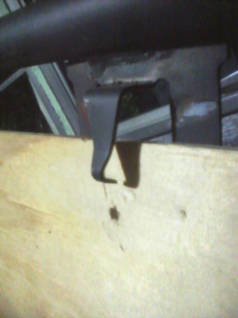 Bend Claw Tab Away from Plywood