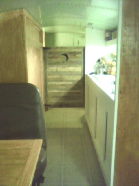Hall view of Outhouse Door