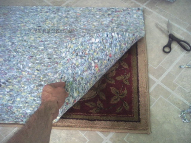 Cutting Carpet Padding