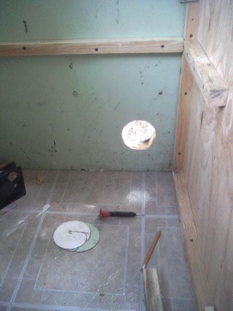 Toilet Vent Cutout