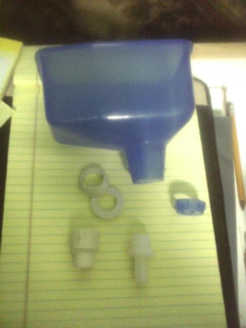 Urine seperator parts