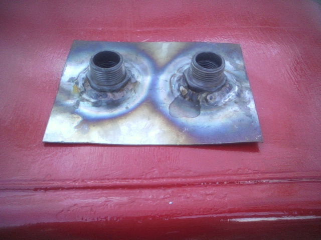 Fittings Welded to Top of Sheet Steel
