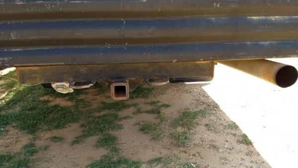 Tow hitch with trailer plug. Might come in handy later.