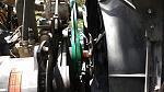 Two new A/C compressor drive belts.