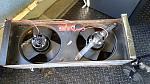 Rear heater getting broken fan bracket fixed.