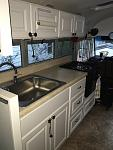 Large sink and stove