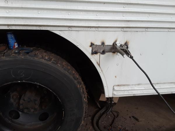 Passenger side rust repair