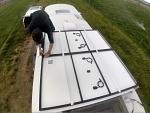 ganging rear solar panel set together