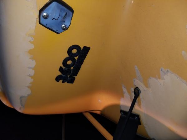 A bit of paint damage