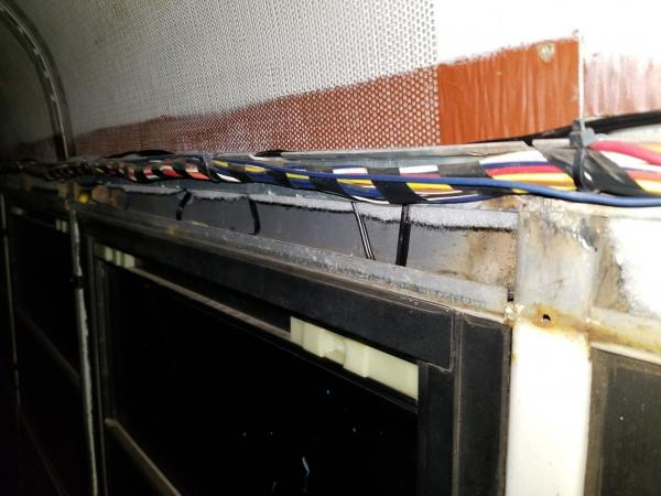 Side Wiring Bundles, Junk Wire Removed Partially
