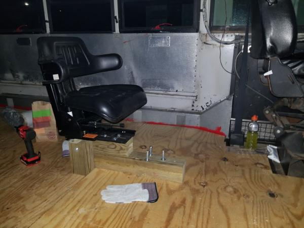 Jump Seat on temporary assembly