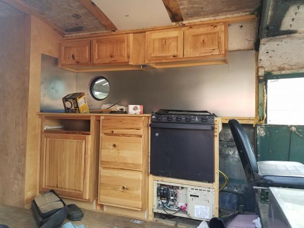 Kitchen in place.  I have the vent hood also