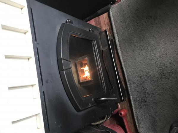 53E1DD3E 0B8B 4AA1 BD3E C8B1D0F84800we build 12 VDC pellet stoves for the bus conversion tiny house market. It's simply the cheapest and most affordable heat you can have. Last winter here in Montana we heated our bus conversion for $345.00 dollars for the entire winters.
