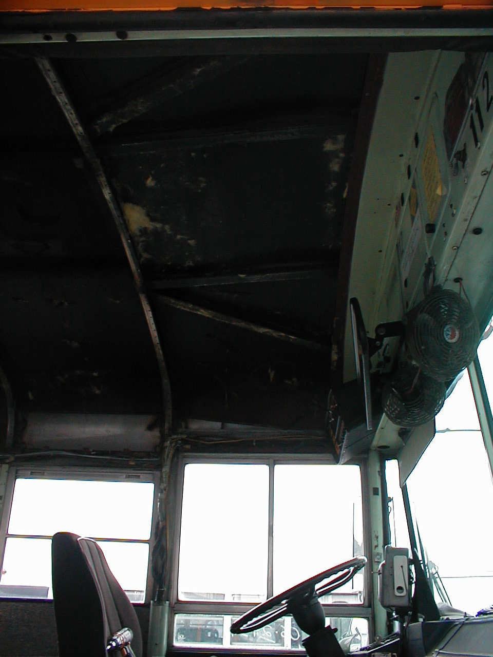 Driver ceiling panel