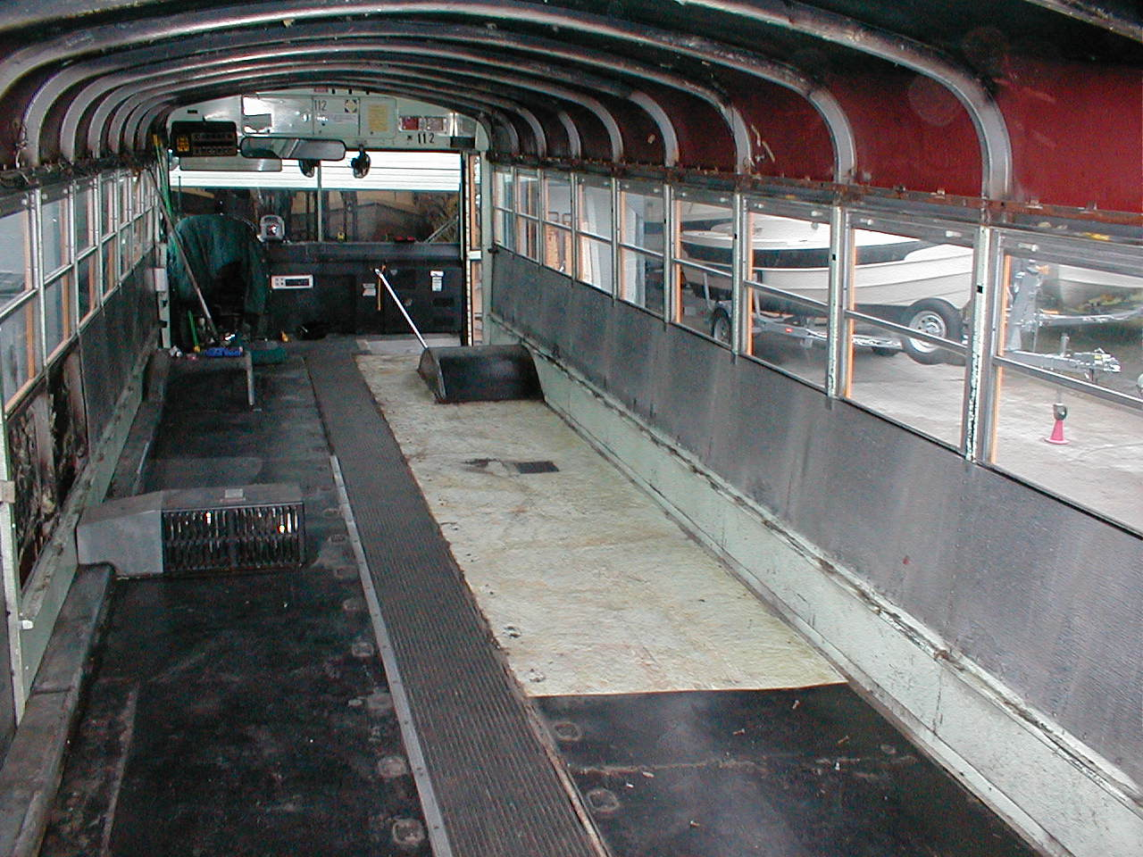 Rubber floor removal front
