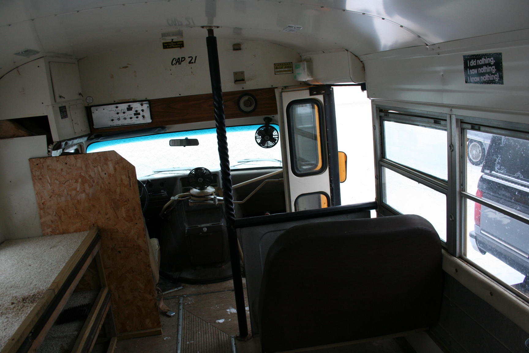 front of bus 1985 chevrolet chevy van 30 blue bird micro bird short mini school bus