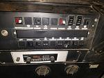 control panel, brakers and fuses underneath