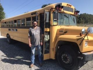 CDL driver (LJ), drove bus back... Thanks buddy!