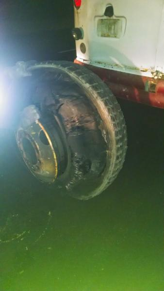 The port-aft tires gave out in less than an hour of highway driving