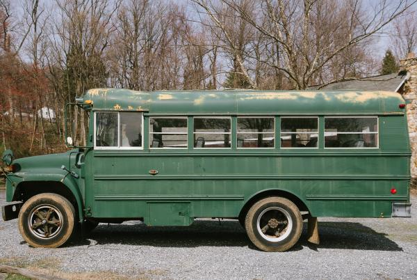 Kind of digging the green old owners painted the bus, we may use a similar shade when it comes time to paint.