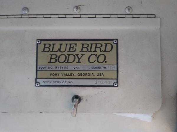 1989 GMC Blue Bird Info