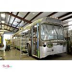 The Lills (@thelillslife) Vintage 1961 GM New Look / Fishbowl Bus Conversion - Paint Removal
